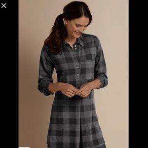 NWOT Soft Surroundings Small Mad About Plaid Tunic